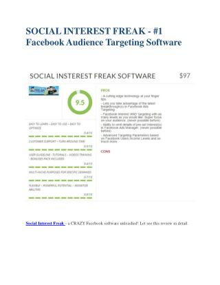 Social Insterest Freak  Review-$32,400 bonus & discount