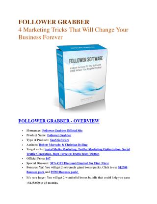 Follower Grabber  review and $26,900 bonus - AWESOME!