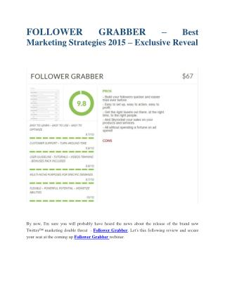 Follower Grabber  review & Follower Grabber  (Free) $26,700 bonuses