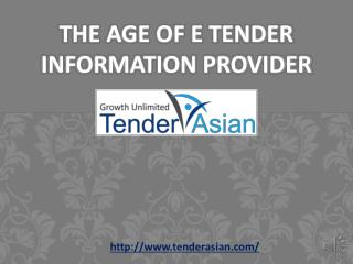 The Age of e tender information provider