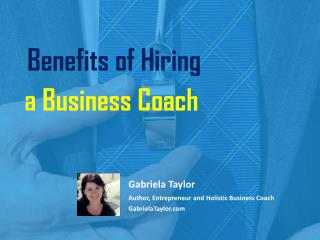Benefits of Hiring a Business Coach