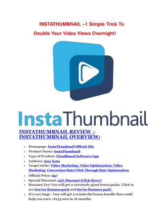 InstaThumbnail Review and InstaThumbnail (EXCLUSIVE) bonuses pack