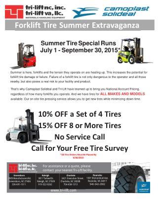 Forklift Tire Summer Extravaganza