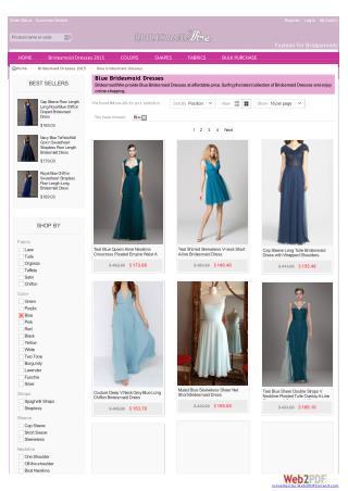 Blue Bridesmaid Dresses-bridesmaidwire