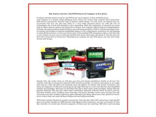 Buy battery inverter and DTH from Lets Compare at low prices