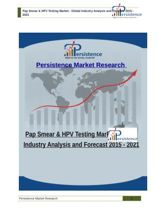 Pap Smear & HPV Testing Market - Global Industry Analysis and Forecast 2015 - 2021