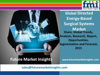 Directed Energy-Based Surgical Systems Market: Global Industry Analysis and Opportunity Assessment 2015-2025 by Future M