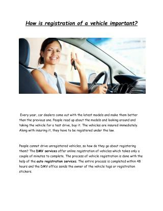Auto registration services & DMV Services