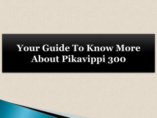 Your Guide To Know More About Pikavippi 300