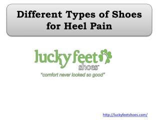 Different Types of Shoes for Heel Pain