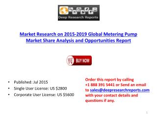 Global Metering Pump Market Size, Share and Trends Report 2015