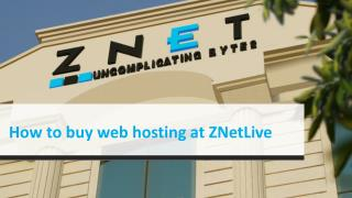 How to buy web hosting at ZNetlive