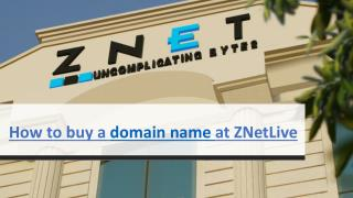 How to Register a Domain Name at ZNetLive