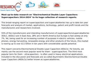 Electrochemical Double Layer Capacitors: Supercapacitors 2014-2024