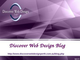 Blog Discover Web Design