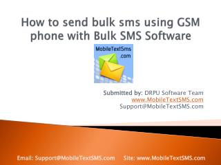 Send bulk sms using GSM phone with Text message Software