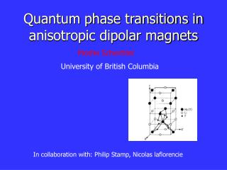 Quantum phase transitions in anisotropic dipolar magnets
