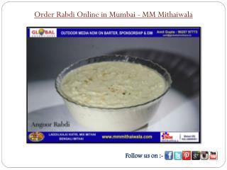 Order Rabdi Online in Mumbai - MM Mithaiwala