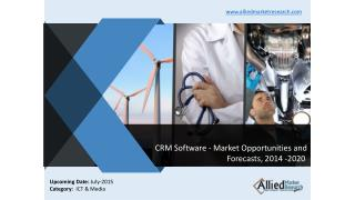 CRM Software - Market Opportunities and Forecasts, 2014 -2020