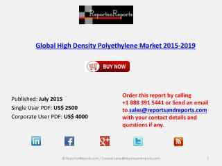 Global High Density Polyethylene Market 2015-2019