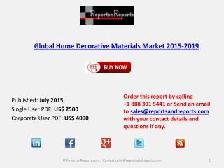Global Home Decorative Materials Market 2015-2019
