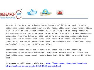 Rise of Perovskite Solar Cells 2015-2025 | Researchmoz.us