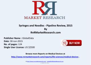Syringes and Needles Comparative Analysis Pipeline Review 2015