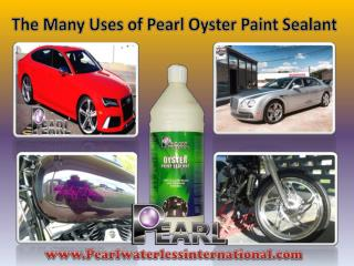 The Many Uses of Pearl Oyster Paint Sealant.