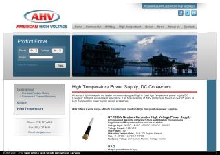 High Temperature DC Converters Power Supply – AHV