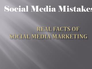 Social media Marketing  and facts