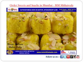 Order Sweets and Snacks in Mumbai - MM Mithaiwala