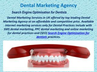 Search Engine Optimisation for Dentists