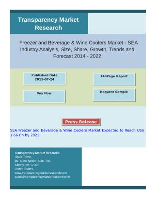 SEA Freezer and Beverage & Wine Coolers Market Expected to Reach US$ 1.66 Bn by 2022