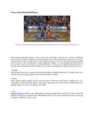 basketball player facts and information