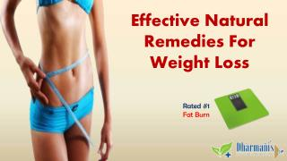 Effective Natural Remedies For Weight Loss