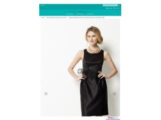 Black Short Bridesmaid Dress with Tulle Bow Belt