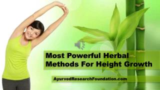 Most Powerful Herbal Methods For Height Growth