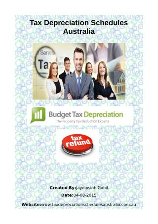 Tax Depreciation Schedule Melbourne