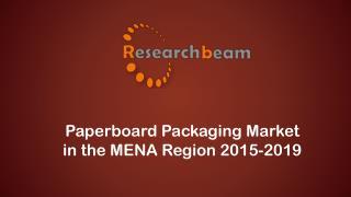 Paperboard Packaging Market in the MENA Region 2015-2019