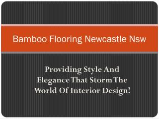 Bamboo Flooring Newcastle Nsw: Providing Style And Elegance That Storm The World Of Interior Design!