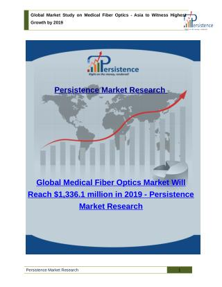 Global Market Study on Medical Fiber Optics - Asia to Witness Highest Growth by 2019