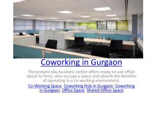 Coworking in Gurgaon