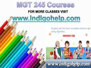 MGT 245 Courses/Indigohelp