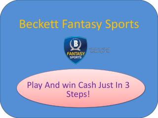 Play Daily Fantasy Sports & Win Real Cash Prize – Beckett Fantasy Sports