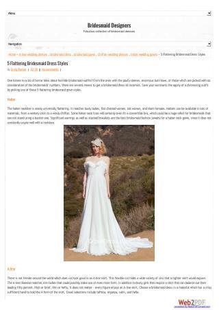 5 Flattering Bridesmaid Dress Styles
