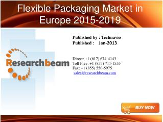Flexible Packaging in Europe Market  Size, Share, Analysis,Industry Trends 2015-2019