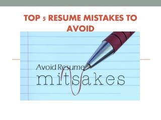 Morpheus Human Consulting Director Kailash Shahan Article On Top 5 Resume Mistakes To Avoid