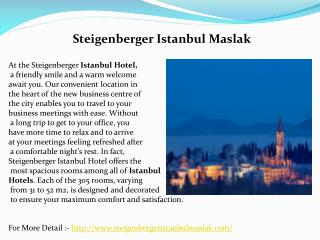 Steigenberger maslak 5 star hotels