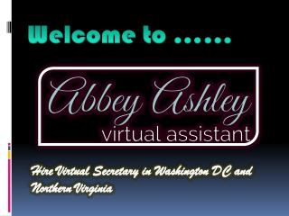 Virtual Assistant Northern Virginia