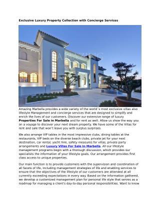 Marbella Properties
